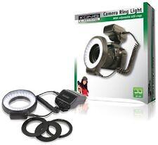 5500K TO 6000K 60 LED CAMERA RING LIGHT CLOSE-UP FLASH + ADAPTER RINGS 52 - 72MM