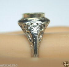 Antique Belais Diamond Engagement Ring Setting 14K Mounting Mount Hold-7.2-7.3MM