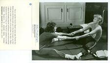 PAMELA SUE MARTIN AL CORLEY BARECHEST WORK OUT IN GYM ORIGINAL 1982 ABC TV PHOTO