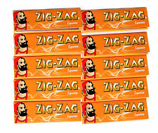 10 booklets ZIG-ZAG LIQUORICE flavour GUMMED Rolling Paper - total 500 papers