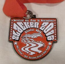SLACKER Half Marathon Medal 2016 Colorado Finisher Race Run Loveland Ski Georget