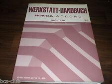 #H032 HONDA ACCORD MJ 1993 5. Generation UPDATE WERKSTATT HANDBUCH 64SN720