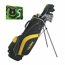 Wilson Ultra Mens Complete Right Handed Golf Club Set with Bridgestone e5 Balls
