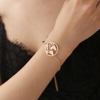 World Map Chain Bangles Globe Bracelet Earth Bracelet Charm Travel Jewelery Gift