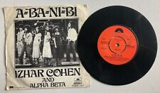 "IZHAR COHEN ALPHA-BETA A-BA-NI-BI 7"" SINGLE RECORD RARE TURKISH"