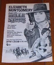 1980 Tv Movie Ad ~ LIZ MONTGOMERY in BELLE STARR ~ Full Page 5 x 7 ~ Bewitched