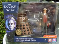 """DOCTOR WHO """" THE 7 TH DOCTOR AND DALEK AXIS STRIKE SQUAD """" NEW UNOPENED PACKING"""