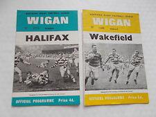 Wigan V Halifax Rugby.L.Semi Final Programme 1966 + Wigan V Wakefield 5/11/66