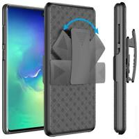 SHELL CASE COMBO BELT CLIP HOLSTER COVER W KICKSTAND Q5L for SAMSUNG GALAXY S10E