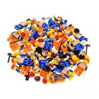 5x Lego City Mini Figuren orange Weste Bahn Logo mit gemischt
