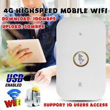 4G/3G LTE WIFI Wireless Router Mobile Broadband Hotspot SIM Card Slot Unlocked