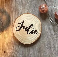 Personalised Engraved Rustic Wooden Coasters ~ Great Gift Made With Any Name