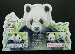 [SJ] Pitcairn Islands Vanuatu Joint Issue Panda 2009 Hong Kong (ms) MNH *odd