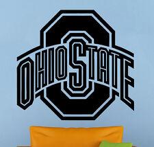 Ohio State Vinyl Decal Sticker Sport Home Art Decor NCAA College Football Emblem