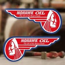 2x pezzi Mohawk OIL Adesivi Sticker Consiglio Hot Rod autocollante STP Pennzoil