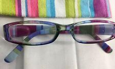 FASHION READING GLASSES 1.5 STRENGTH-PEEPER SPECS MULTI COLORED STRIPES