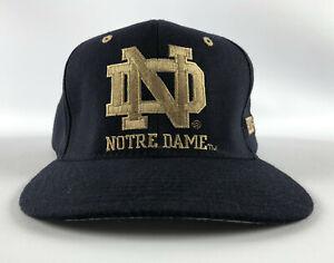 Notre Dame Fighting Irish Vintage Baseball Hat Blue Starter - Size 2