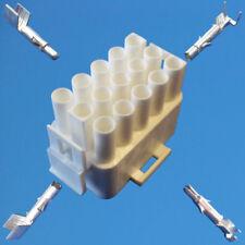MATE-N-LOK Stecker gehäuse 15-polig + Steck- und Buchsenkontakte Calira Schaudt