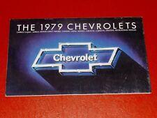 NOS GM 1979 Chevrolet all models dealership showroom color sales brochure
