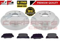 FOR TOYOTA PRIUS HYBRID 1.5 VVTI 2004-2010 REAR BRAKE DISCS AND PADS SET 269mm
