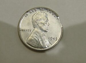 1943 - Lincoln Wheat Steel Cent - Clipped - Mint Error - Nice Grade