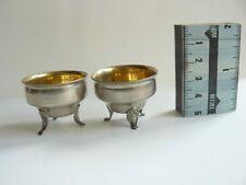 Russian Soviet Silver 875 Set of 2 Salt Cellars Tallinn Jewelry Factory 1953-58