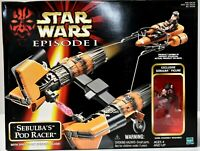 STAR WARS Episode 1 SEBUBLA's POD RACER Vehicle Action Figure Playset NIB c395