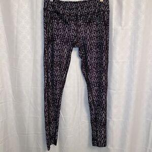"North Face Women's Leggings Black & Gray Patterned Size Medium 27"" Inseam"