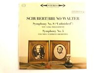Bruno Walter LP Schubert Symphonies No. 5 & 8 Unfinished COLUMBIA 6-Eye MS 6218