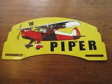 Vintage Piper Aircraft License Plate Topper