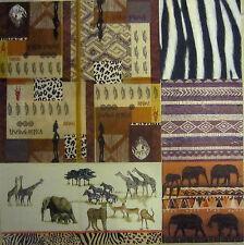 4 Servietten Afrika Tiere wilde Tiere Fell Giraffe Gepard