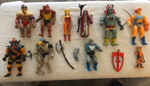 Thundercats lot of 10 vintage 1985 figures Lion-O Mumm-Ra Cheetara Panthro