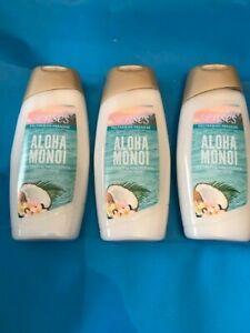3 X Avon SENSES POLYNESIAN PARADISE ALOHA MONOI SHOWER CREME 250 MLS EACH