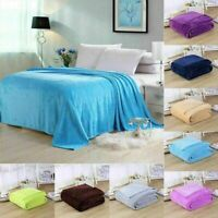 Faux Fur Mink Throw Luxury Soft Plain Bed Blanket Sofa Settee Throw 150 x 200 cm