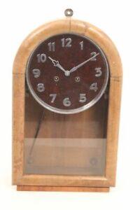Wanduhr Regulator Pendeluhr 121832 Uhrwerk Holzgehäuse Art Deco