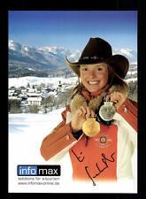 Evi Sachenbacher Autogrammkarte Original Signiert Biathlon + A 134137