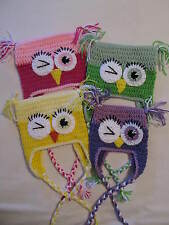 Crochet Peek A Boo Square Owl Hat - Made to Order for Baby up to Adult Sizes