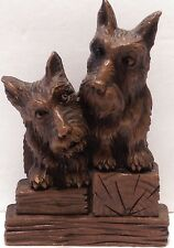 Vtg Scottie & Westie Dog Holder Syroco Scottie Scotty Dogs for Cards or Brush?
