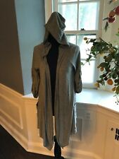 Ladies Alternate Earth Gray Green Hoodie Size Small