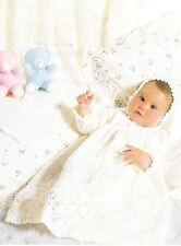 LACY CHRISTENING SET shawl,dress & bonnet / 3ply - COPY baby knitting pattern