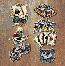 Gambling Sticker Set Ace Skull Car Motorcycle Hot Rat Rod Vintage Retro Laptop