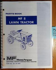 Massey Ferguson MF8 MF 8 Lawn Tractor Parts Book Manual 651 319 M92 7/78