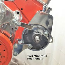 Small Block Chevy Chrome Power Steering Bracket Saginaw Pumps Sbc 327 350 400