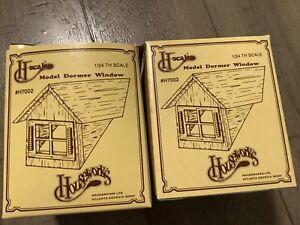 Half Scale 1:24  Window & Gable  Dormer - Dollhouse wooden #H7002 Houseworks X2