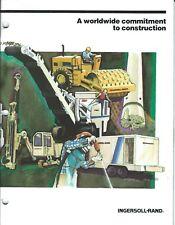 Equipment Brochure Ingersoll Rand Construction Product Line 1989 E4761