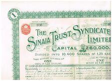 Sinaia Trust Syndicate Ltd, 1912, UNC./CPS.