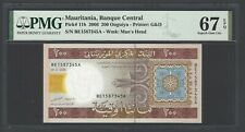 Mauritania 200 Ouguiya 28-11-2006 P11b Uncirculated Graded 67