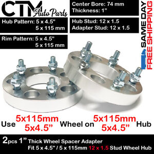 "2PC 1"" THICK 5x4.5"" 