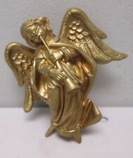 Lord & Taylor Angel Playing Horn Gold Hanging Ornament Italy