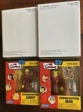 PLAYMATES - The Simpsons - 2 Boxed Sets Stone Cutter Lenny + Moe. MIB.